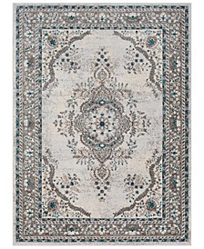 Varanasi VAR-2311 Medium Gray 2' x 3' Area Rug