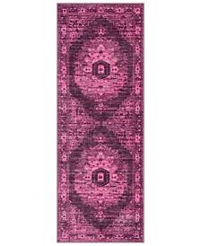 "Surya Silk Road SKR-2319 Bright Pink 2'7"" x 7'3"" Runner Area Rug"