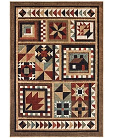"Woodlands 9596A Brown/Multi 7'10"" x 10' Area Rug"