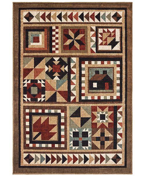 "Oriental Weavers Woodlands 9596A Brown/Multi 9'10"" x 12'10"" Area Rug"