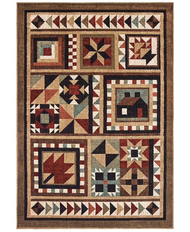 "Oriental Weavers Woodlands 9596A Brown/Multi 9'10"" x 12'10"" Area Rug"