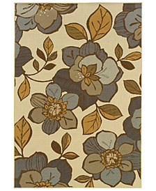 "Oriental Weavers Bali 9448M Ivory/Gray 6'7"" x 9'6"" Indoor/Outdoor Area Rug"