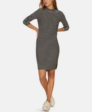 Sanctuary  ESSENTIALS STRIPE MOCK-NECK DRESS