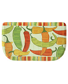 """Bacova Spicy Peppers Memory Foam Slice 18""""x30"""" Accent rug"""