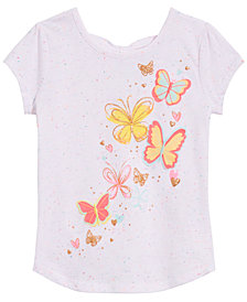 Epic Threads Little Girls Butterfly-Print Bow-Back T-Shirt, Created for Macy's