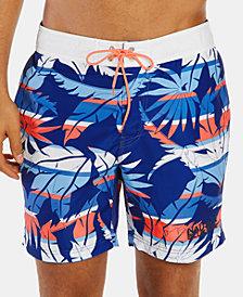 "Nautica Men's Blue Sail Palm Quick Dry 8"" Swim Trunks, Created for Macy's"