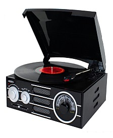 3-Speed Stereo Turntable with AM-FM Stereo Radio