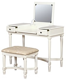 Cyndi Vanity Set with Bench and Mirror