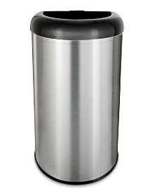 Nine Stars 13.2 Gallon Open Top Trash Can with Black Lid