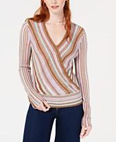Bar III Metallic Surplice Pullover Sweater 503074a58