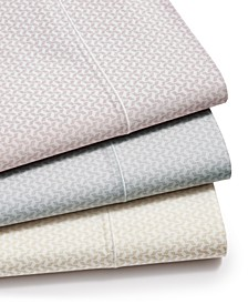 Textured Prism Cotton 525-Thread Count 4-Pc. Sheet Set, Created for Macy's