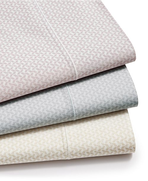 Hotel Collection Textured Prism Cotton 525-Thread Count 4-Pc. Sheet Set, Created for Macy's