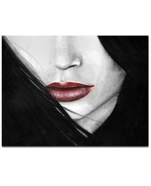 Ready2HangArt 'Temptation IV' Mouth Profile Canvas Wall Art, 20x30""