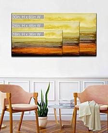Collection 'Amber Horizon' Canvas Wall Art Collection