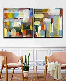'Shapes I/II' 2 Piece  Canvas Wall Art Collection