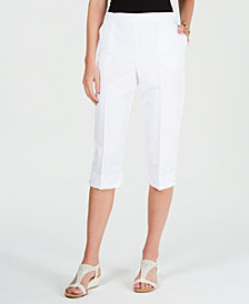Alfred Dunner Butterfly Effect Pull-On Capri Pants