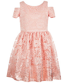 Us Angels Big Girls Lace Foil Ombré Dress