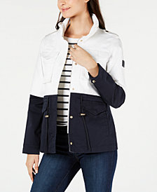 Tommy Hilfiger Colorblocked Jacket, Created for Macy's
