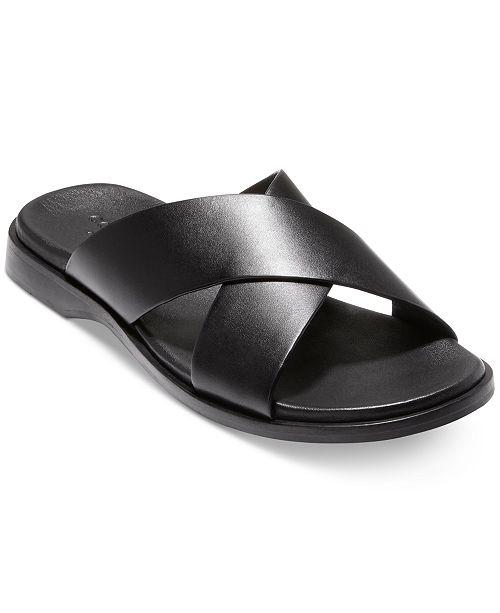 4a229e55becb Cole Haan Men s Goldwyn 2.0 Cross Band Slide Sandals   Reviews ...