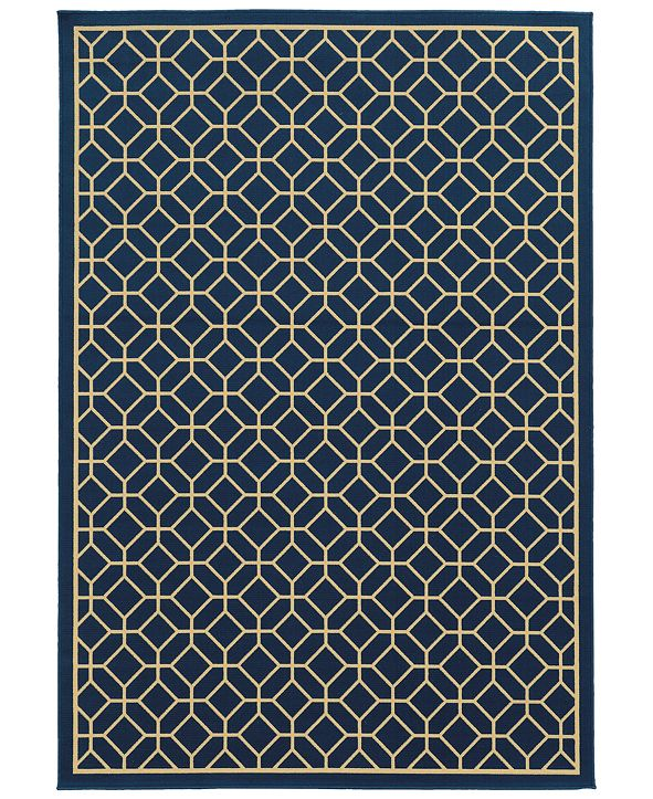 """Oriental Weavers Riviera 4771 7'10"""" x 10'10"""" Indoor/Outdoor Area Rug"""