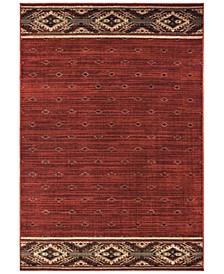 "Woodlands 9652C Red/Gold 7'10"" x 10' Area Rug"