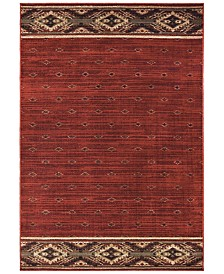 "Oriental Weavers Woodlands 9652C Red/Gold 3'10"" x 5'5"" Area Rug"