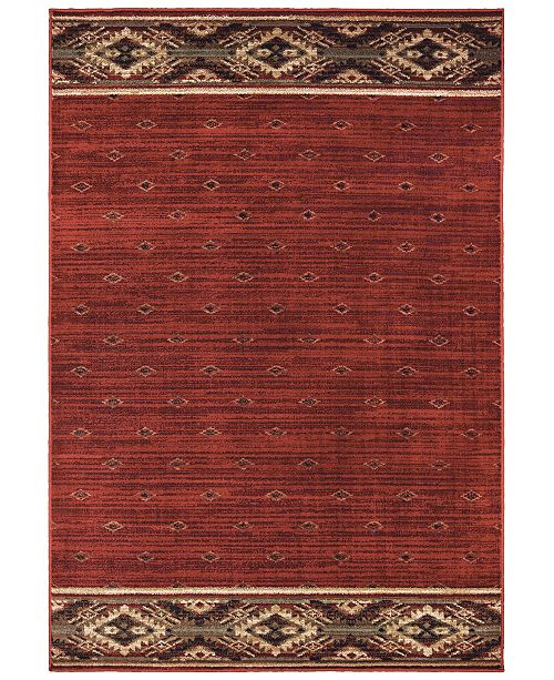"Oriental Weavers Woodlands 9652C Red/Gold 7'10"" x 10' Area Rug"