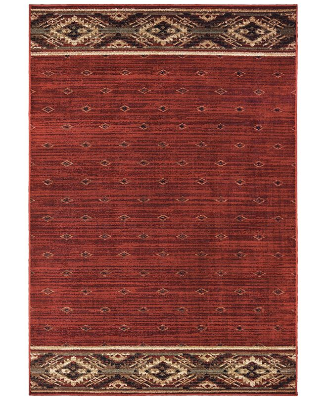 "Oriental Weavers Woodlands 9652C Red/Gold 5'3"" x 7'3"" Area Rug"