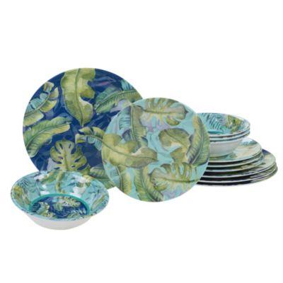 Melamine Tropicana 12-Pc. Dinnerware Set