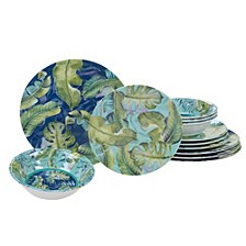 Tropicana Melamine 12 Piece Dinnerware Set