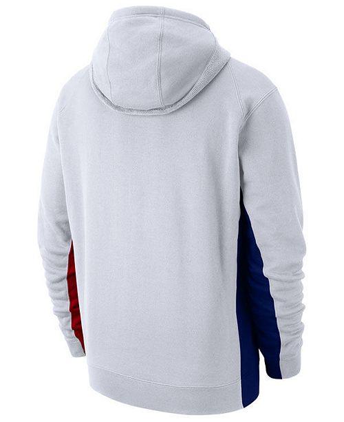 24302a37f7a Nike Men s Philadelphia 76ers Earned Edition Courtside Hoodie ...