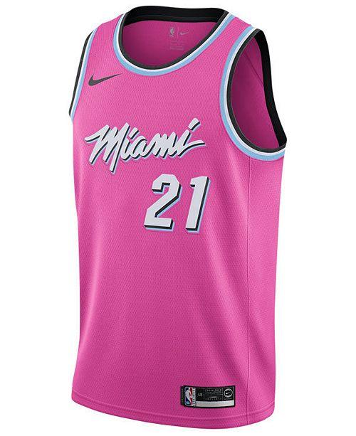 2005e2ac Nike Men's Hassan Whiteside Miami Heat Earned Edition Swingman Jersey ...