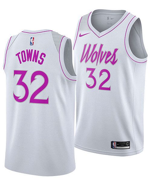 5f1db0d0844 ... Nike Men s Karl-Anthony Towns Minnesota Timberwolves Earned Edition  Swingman Jersey ...