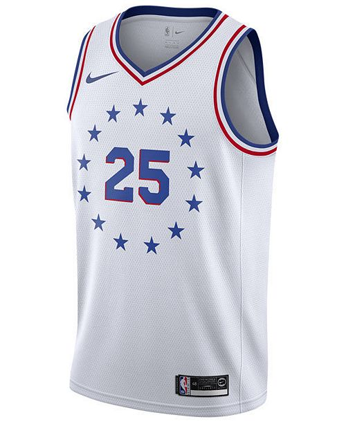 reputable site b184e 95284 Men's Ben Simmons Philadelphia 76ers Earned Edition Swingman Jersey