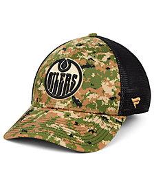 Authentic NHL Headwear Edmonton Oilers Military Appreciation Speed Flex Stretch Fitted Cap