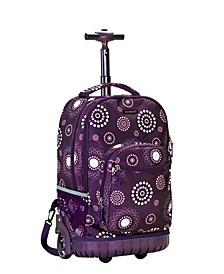 "Purple Pearl 19"" Rolling Backpack"