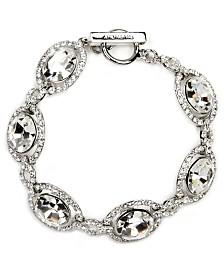 Givenchy Bracelet, Silver-Tone Swarovski Element Bridal Bracelet