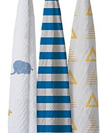 Bella Elephants Cotton Blanket Set