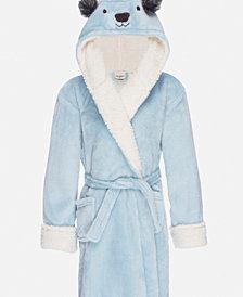 Kids Hooded Fleece Sherpa Robe