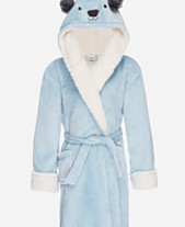 64ab48007e Kids Hooded Fleece Sherpa Robe