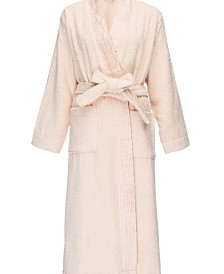 Pleated Turkish Cotton Robe, Small/Large