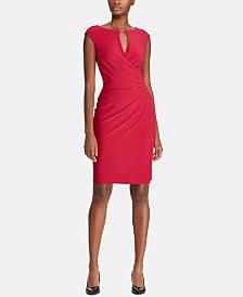 Lauren Ralph Lauren Keyhole Stretch Dress