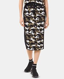 MICHAEL Michael Kors Camo-Print Skirt, Regular & Petite
