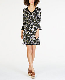 MICHAEL Michael Kors Printed Flounced-Hem Dress, Regular & Petite Sizes