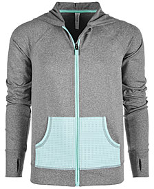 Ideology Big Girls Mesh-Pocket Hooded Jacket, Created for Macy's