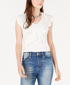 American Rag Juniors' Ruffled Top, Created for Macy's