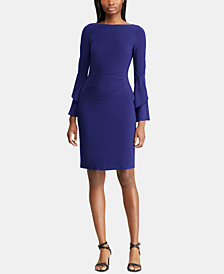 Lauren Ralph Lauren Ruffle-Sleeve Dress