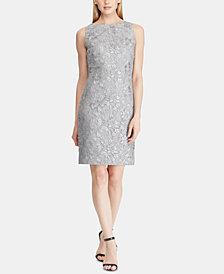 Lauren Ralph Lauren Sequin Floral-Mesh Dress