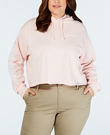 Trendy Plus Size Cropped Logo Graphic Hoodie