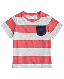 First Impressions Baby Boys Rugby Striped T-Shirt, Created for Macy's